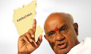 Devegowda in Hassan