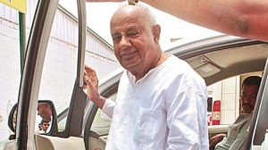 JDS National President HD Devegowda arrives for a press conference at his Party Office, Sheshadripuram in Bengaluru on Tuesday, September 01, 2015. - KPN ### HDD at a PC