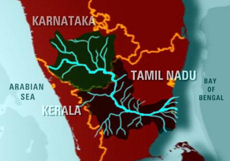 cauvery_river_map