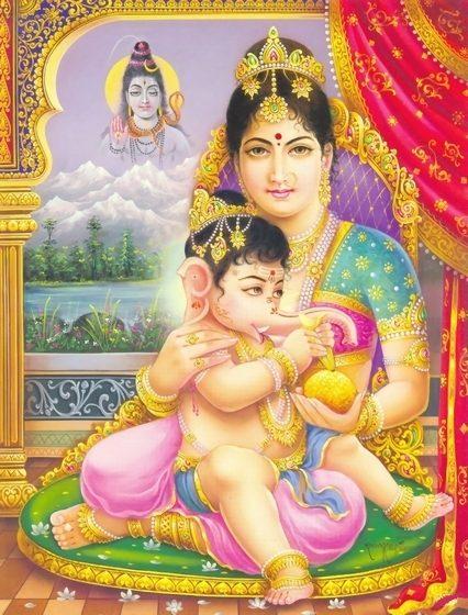 parvati & baby ganesha